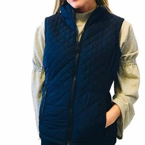 NWOT ANDREW MARC Navy Quilted Vest Size Small
